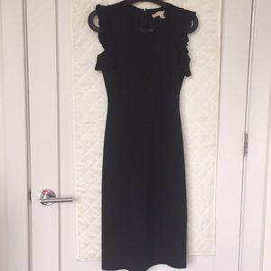EUC MICHAEL Michael Kors v-neck midi black dress